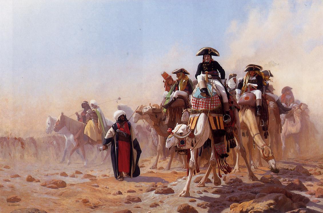 Bonaparte et son armee en egypte, jean leon Gerome