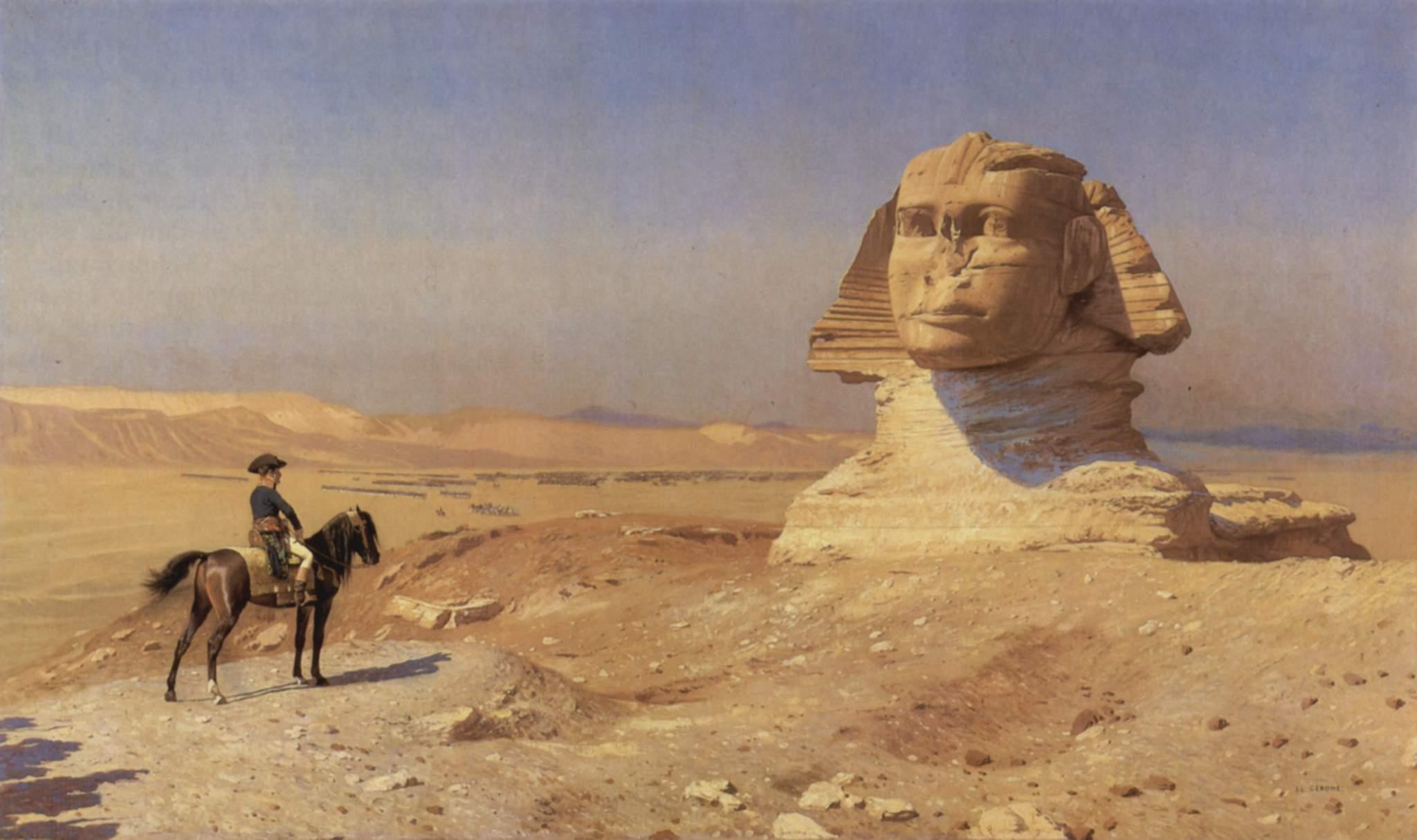 Bonaparte_Before_the_Sphinx, Jean Leon Gerome