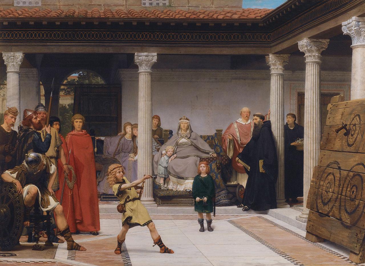 -Alma-Tadema_The_Education_of_the_Children_of_Clovis