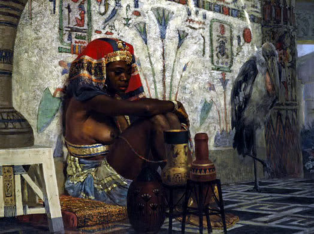Egyptian Girl by Vasili Dmitrievich Polenov (1844-1927)