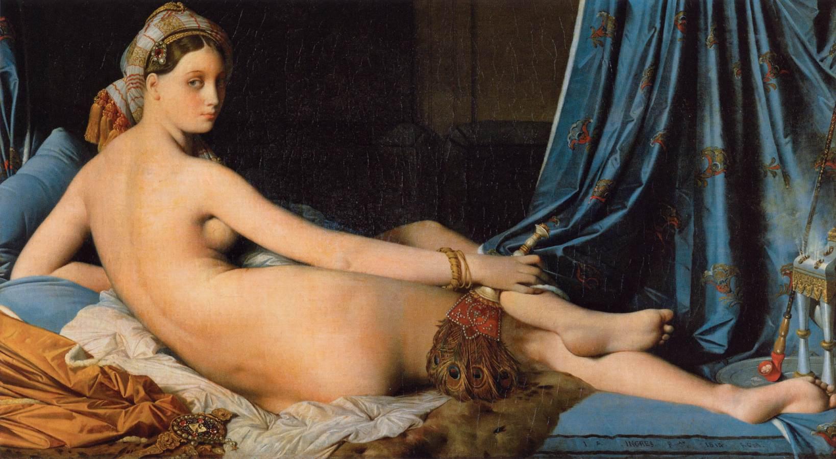 Jean-Auguste-Dominique-Ingres-The-Grand-Odalisque