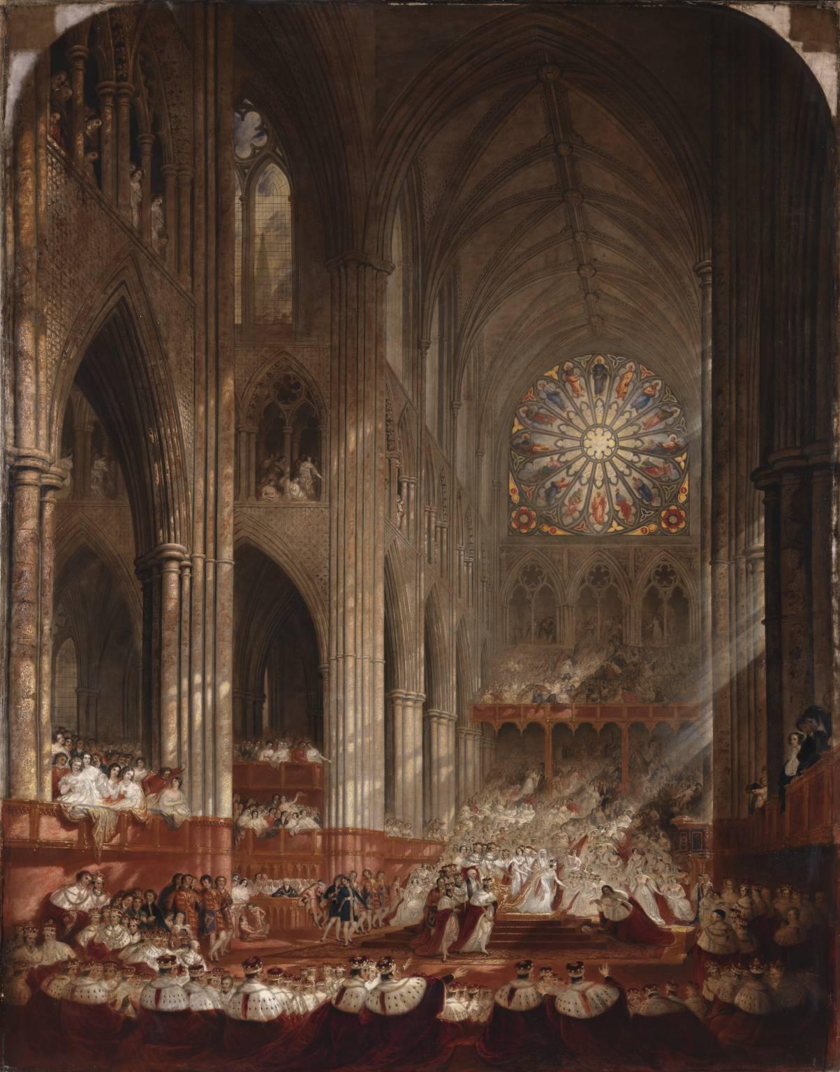 The Coronation of Queen Victoria 1839 by John Martin 1789-1854