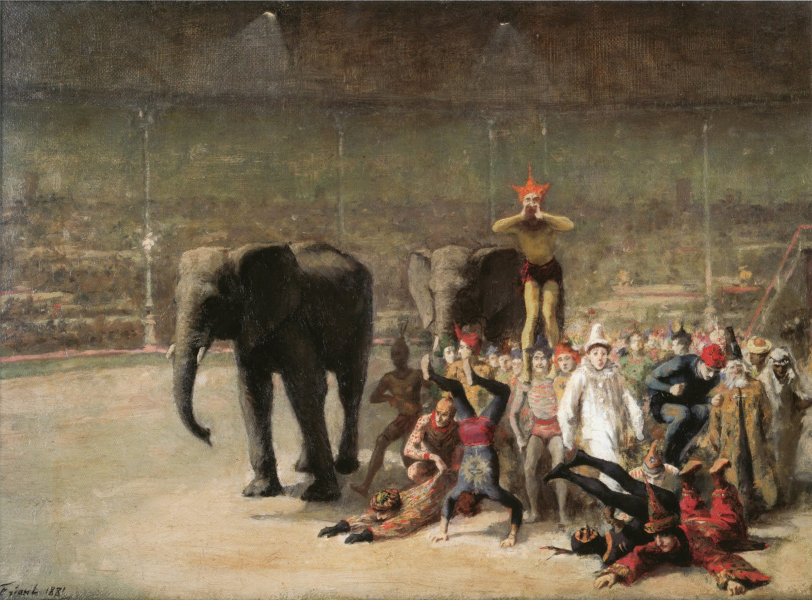 friant_entrance_of_the_clowns