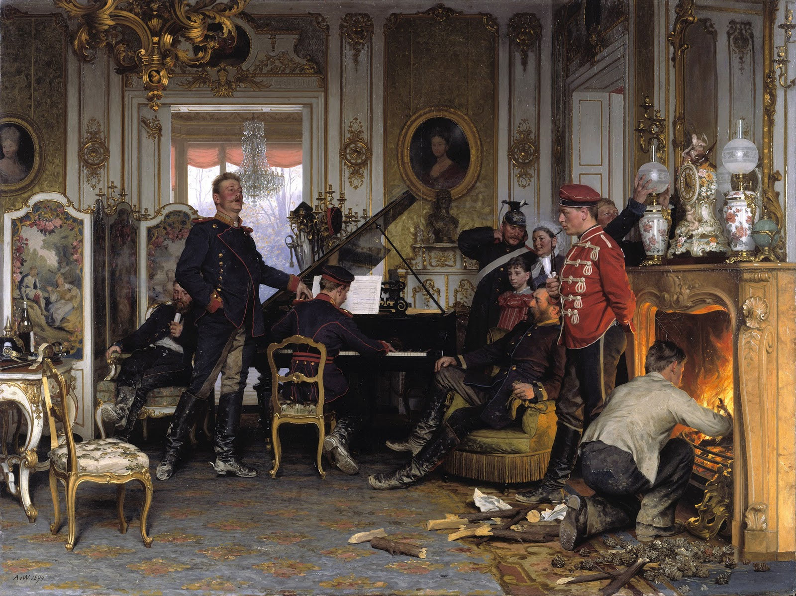 von Werner in-the-troops-quarters-outside-paris