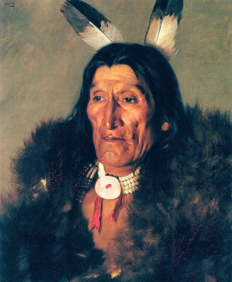 Hubert_Vos-_Sioux_Chief_In_Buffalo_Robes