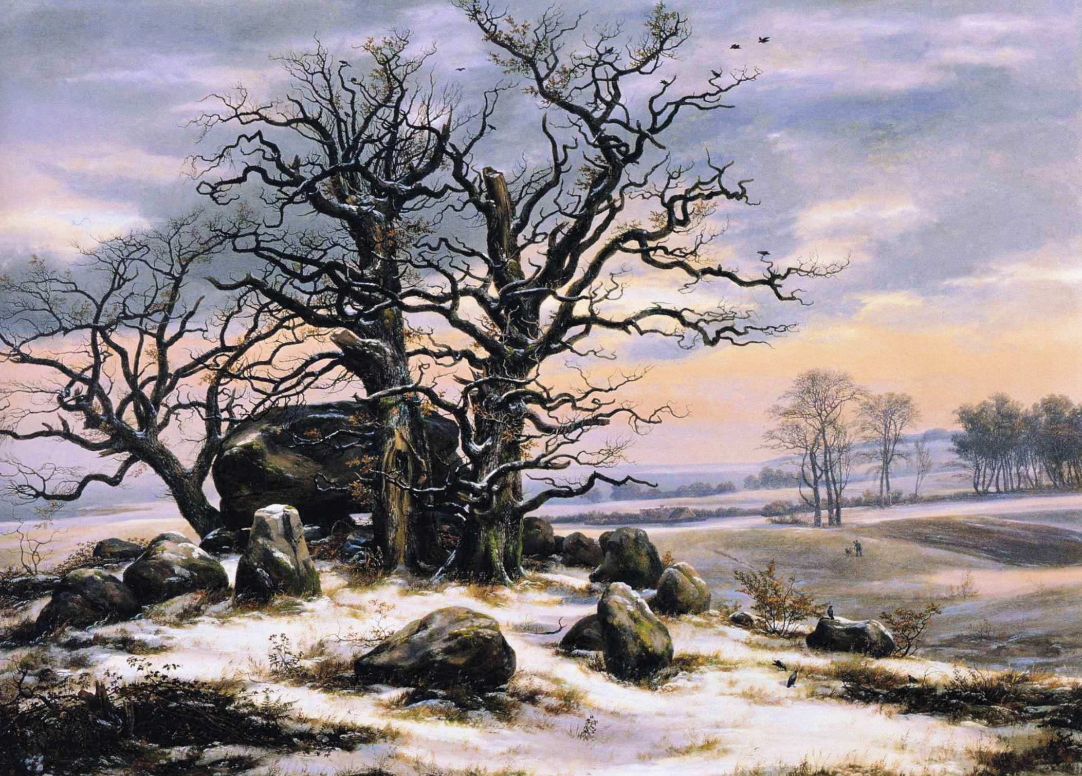 Johan_Christian_Dahl_-_Megalith_Grave_in_Winter