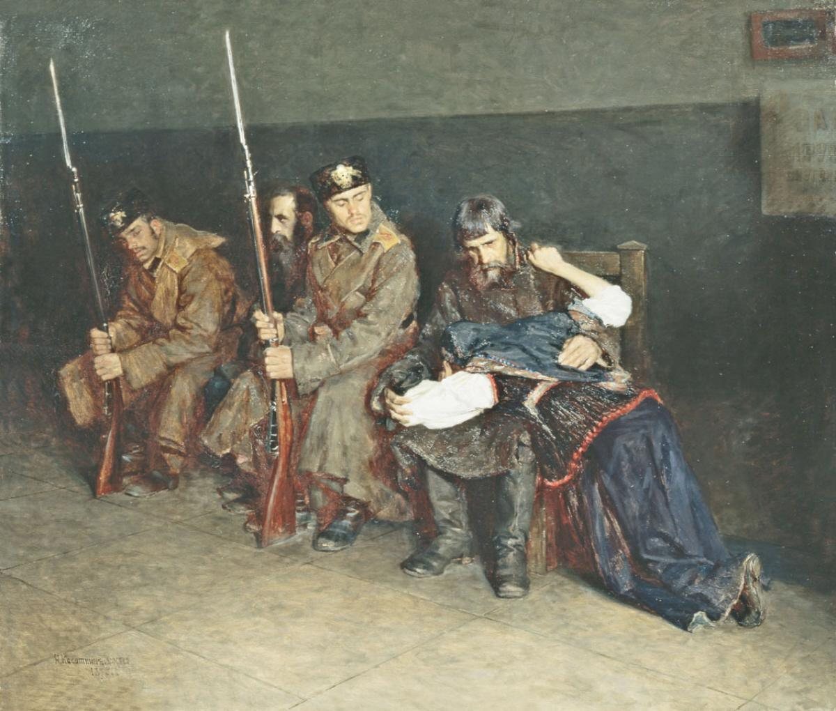 nikolai-kasatkin-in-the-anteroom-of-the-district-court-1897