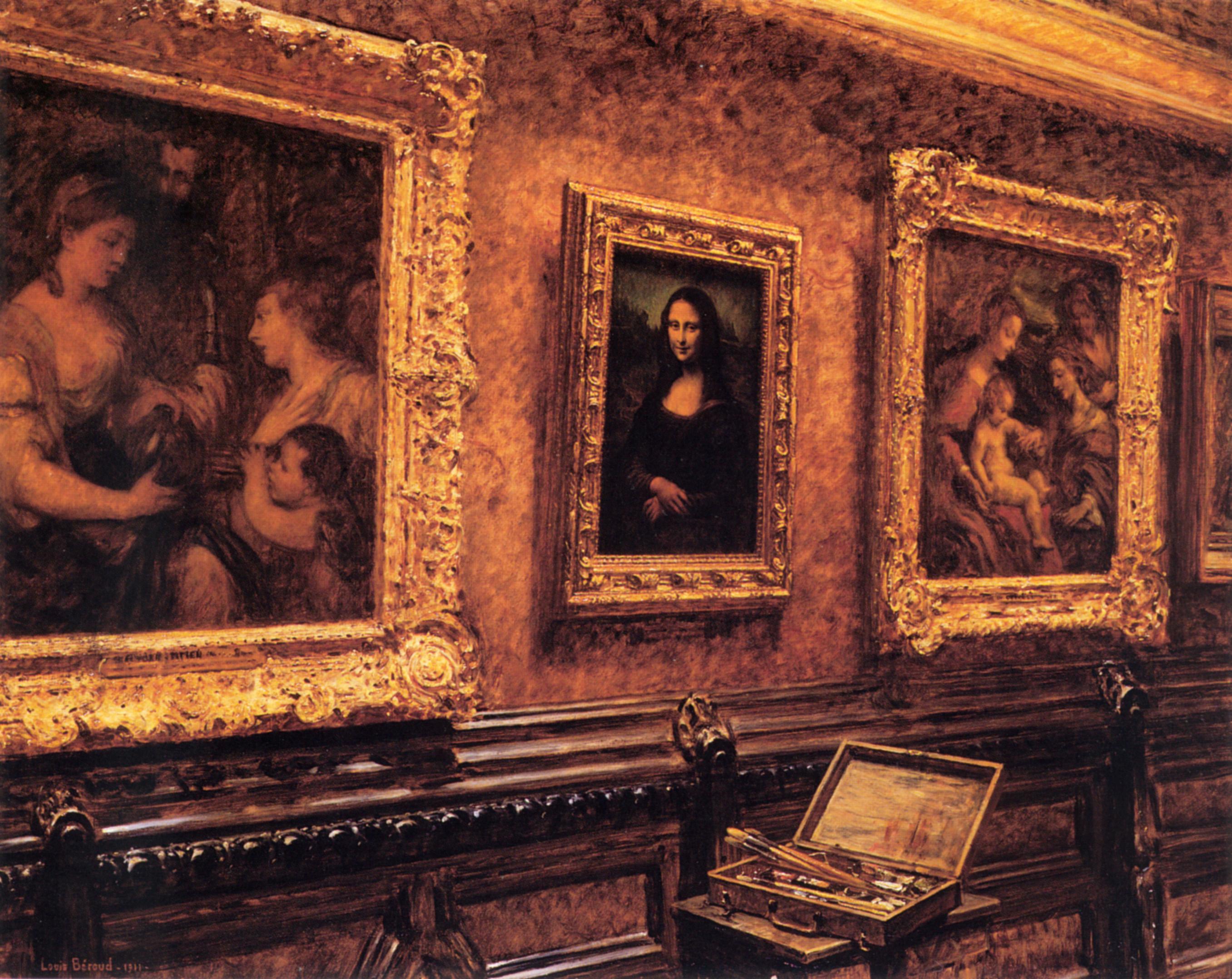 Beroud-L-Mona-Lisa-at-the-Louvre