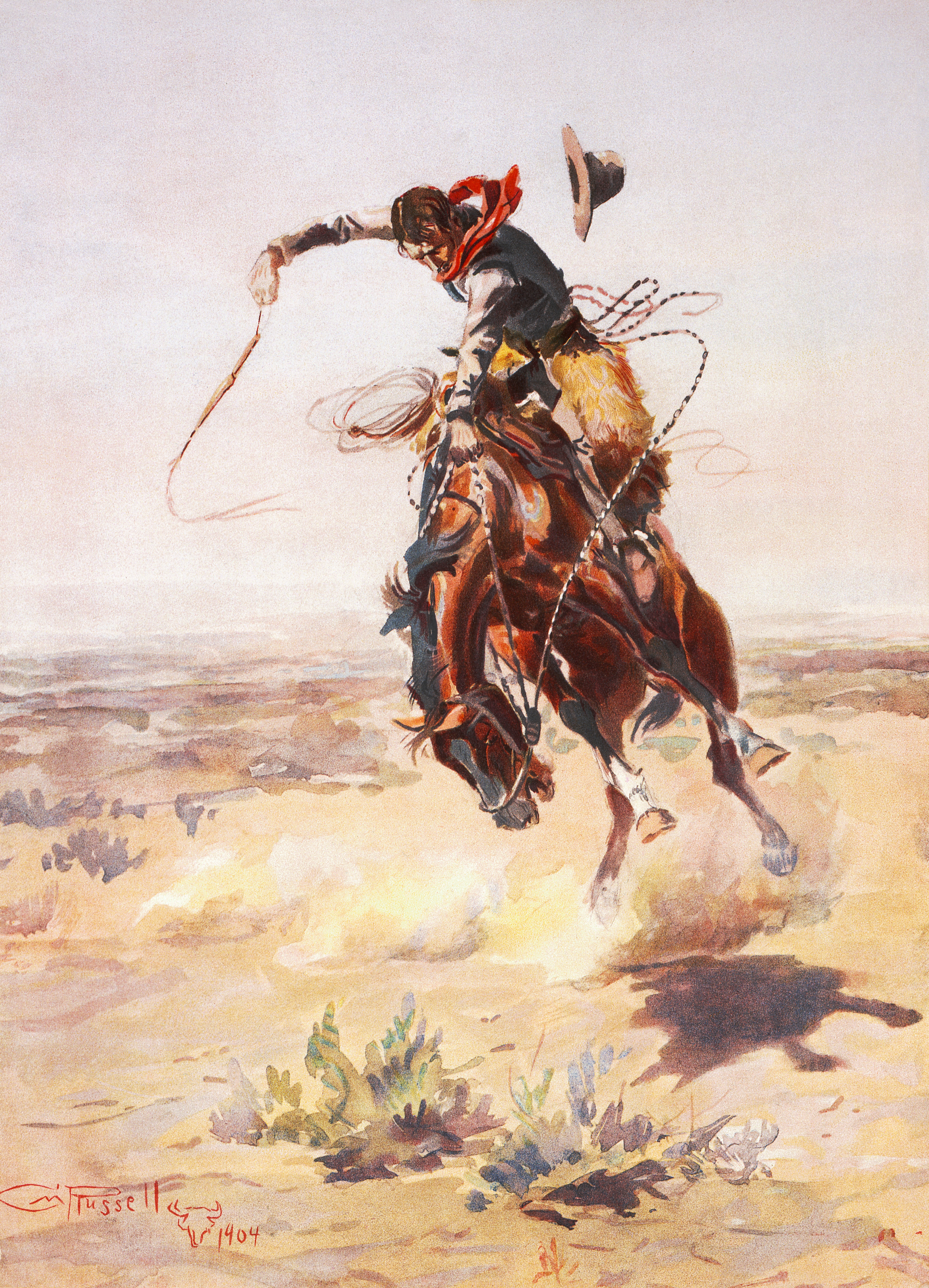 Charles_Marion_Russell_-_A_bad_hoss_(1904)
