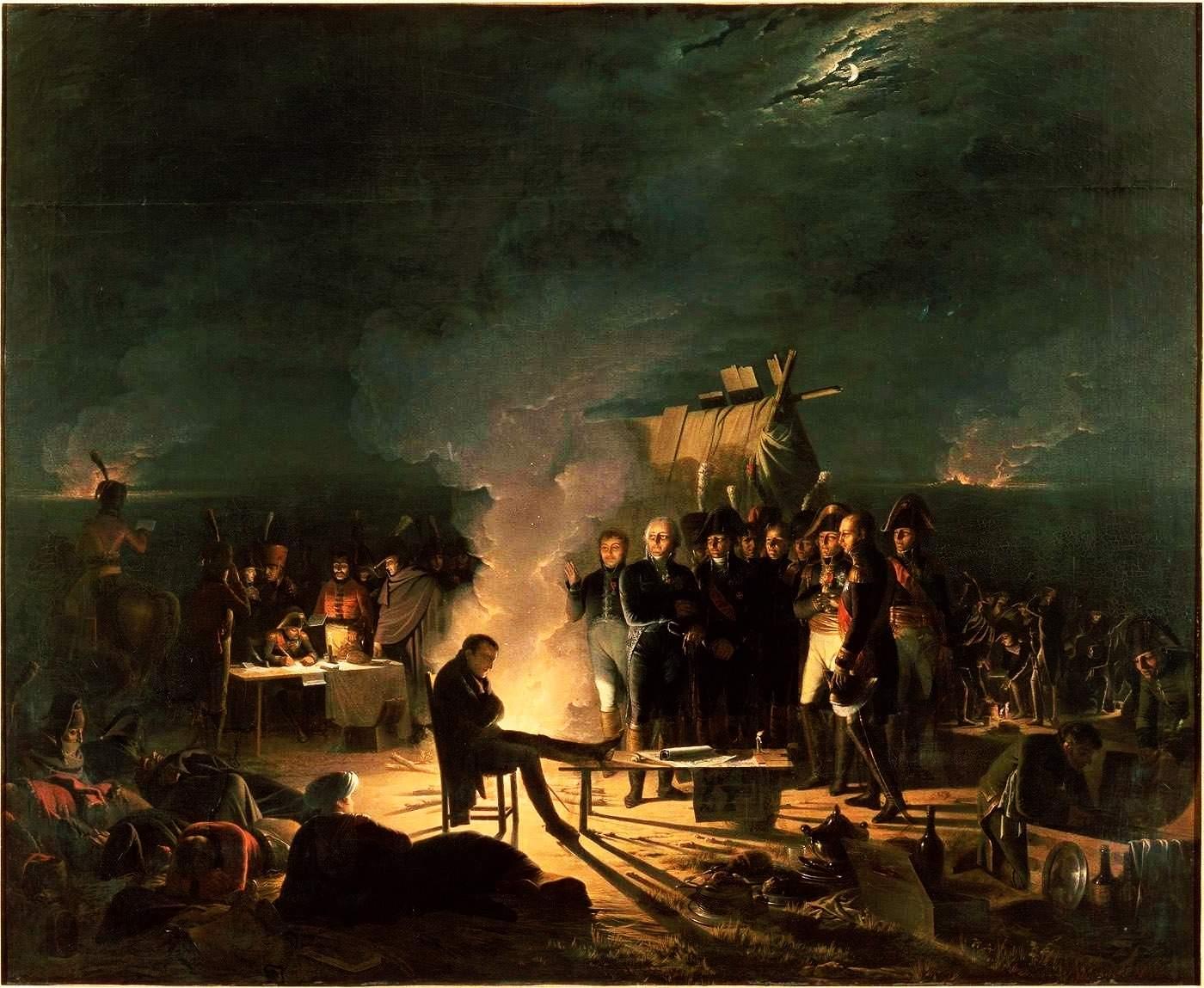 Napoleon_bivouac_Wagram_Roehn