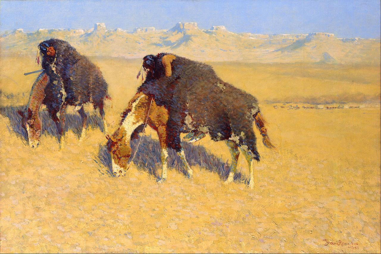 Frederic_Remington_-_Indians_Simulating_Buffalo_