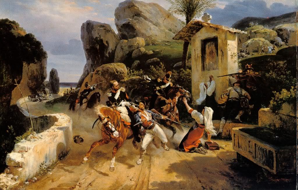 HoraceVernet--BanditsItaliensSurprisparlesTroupesPontificales1836