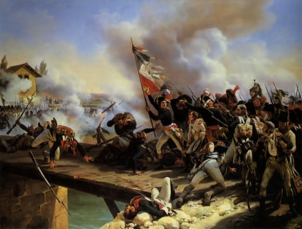 HoraceVernet--NapoleonBonaparteleadinghistroopsoverthebridgeofArcole1826