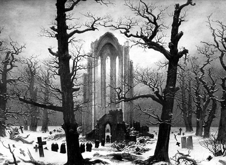 Monastery_Graveyard_in_the_Snow, Caspar David Friedrich