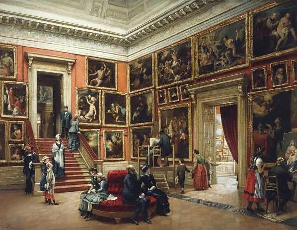 Preusser,_Karl_Louis_-_In_der_Dresdner_Galerie_-_1881