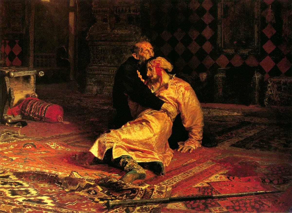 ivan_the_terrible_and_his_son_ivan_on_november_16th_1581, Ilya Repin