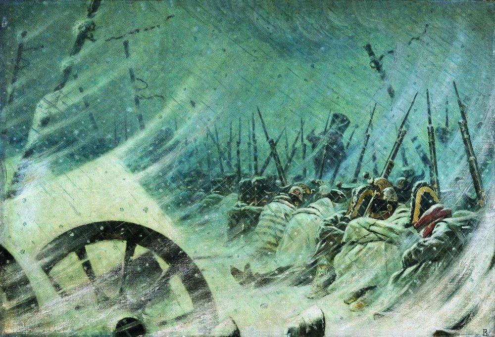 the-night-bivouac-of-the-great-army-,vasily vereschagin,1897