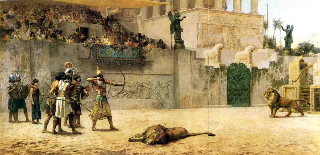 Assyrian_Lion_hunt_Bridgman