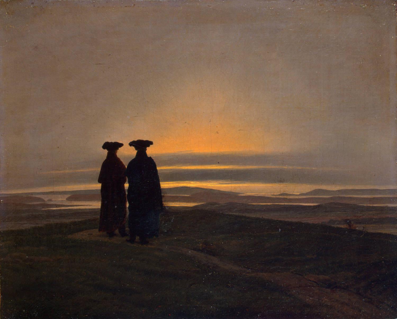 Caspar_David_Friedrich,Brothers,sunset