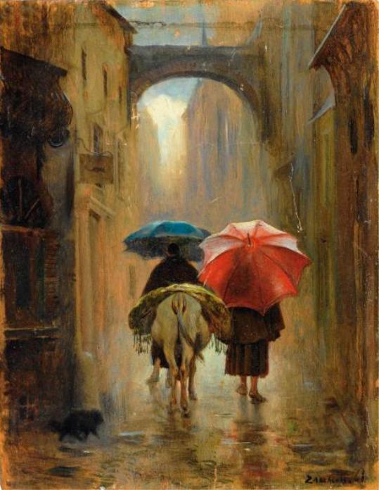 Eduardo_Zamacois_y_Zabala_ 2_Monks_in_the_rain