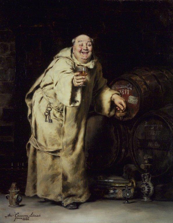 Monk_Testing_Wine_-_Antonio_Casanova_y_Estorach
