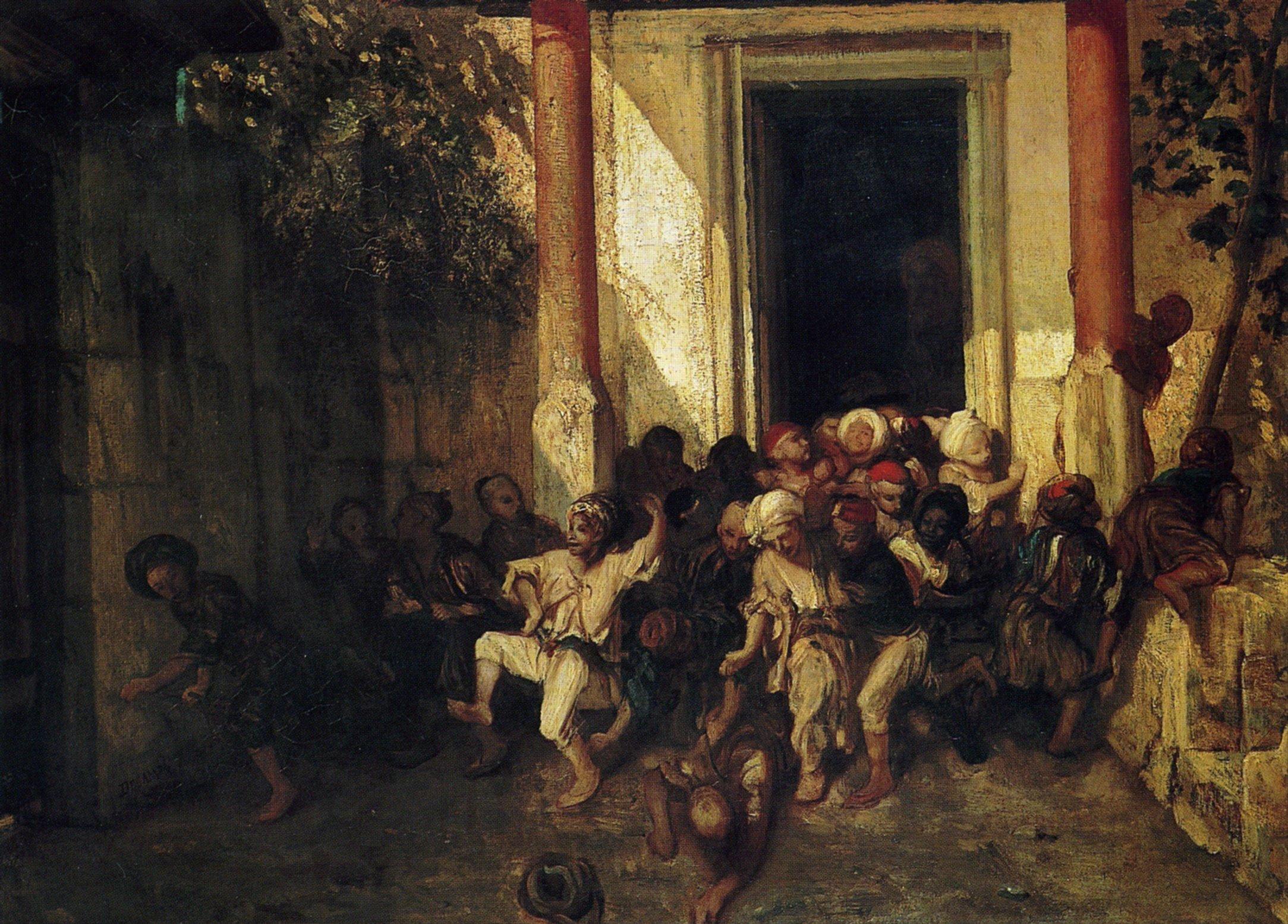 exit-of-the-turkish-school_Daumier