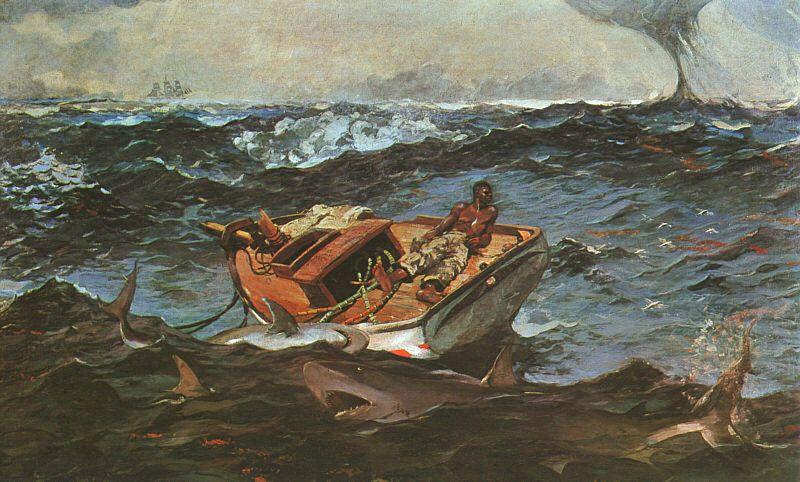 winslow homer, shark