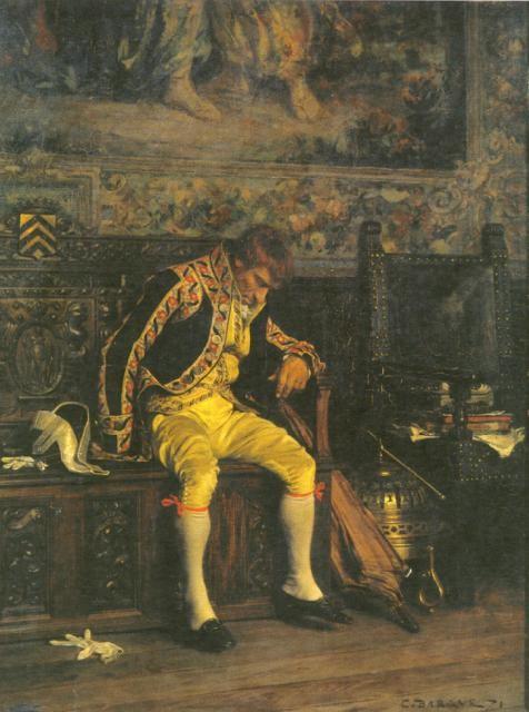 A_A_Footman_Sleeping_1871_bargue