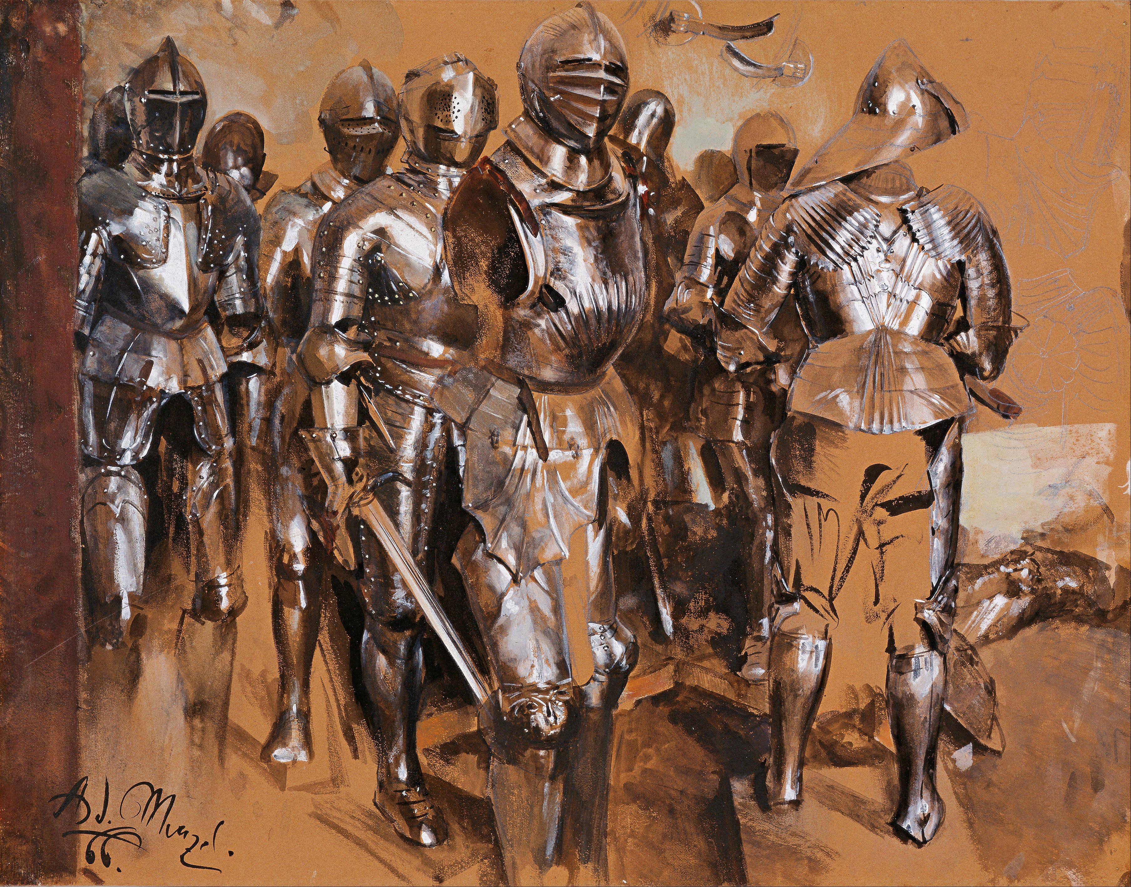 Adolf_Menzel_-_-Armor_Chamber_Fantasy-,_1866_