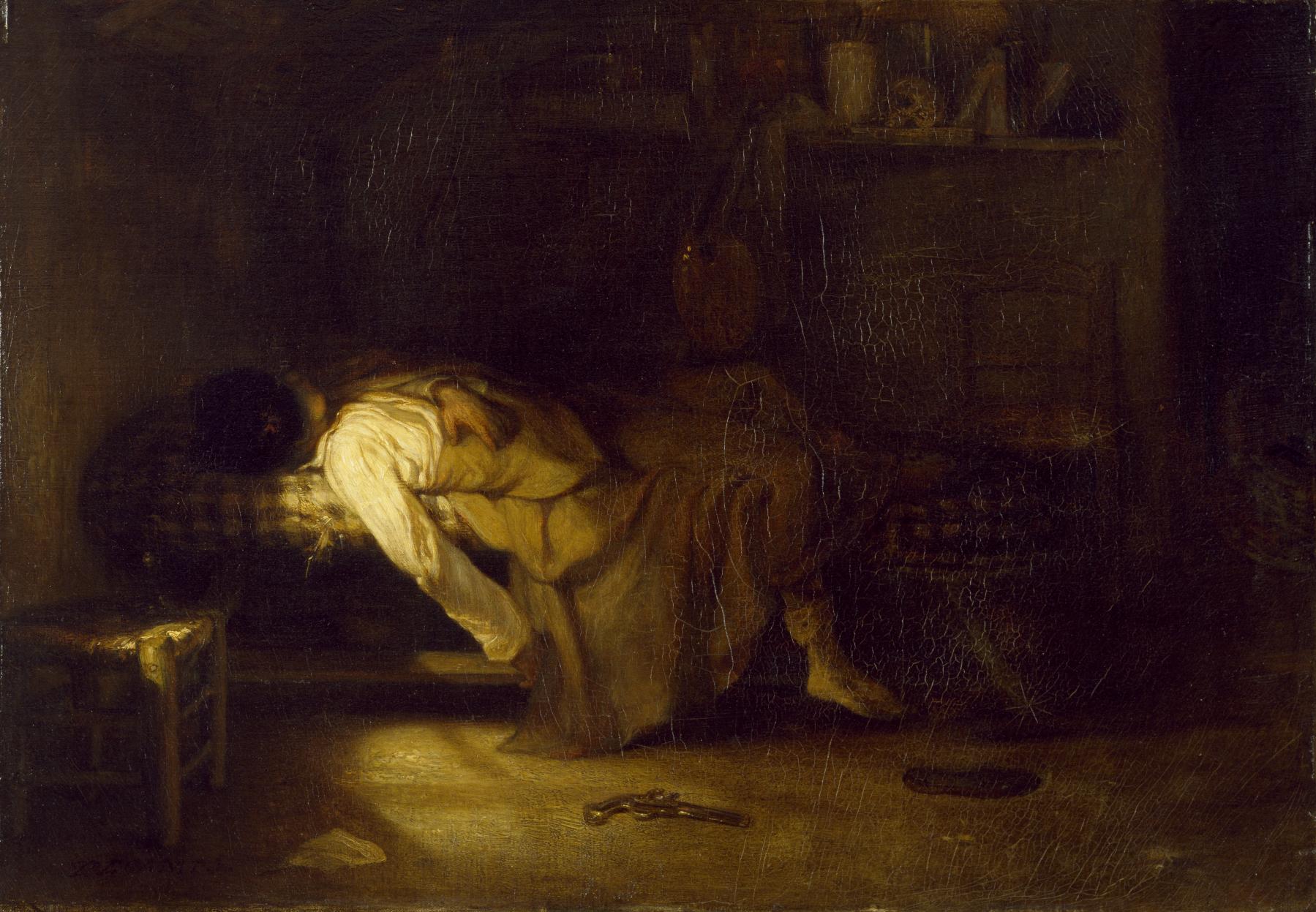 Alexandre-Gabriel_Decamps_-_The_Suicide_-_Walters_3742