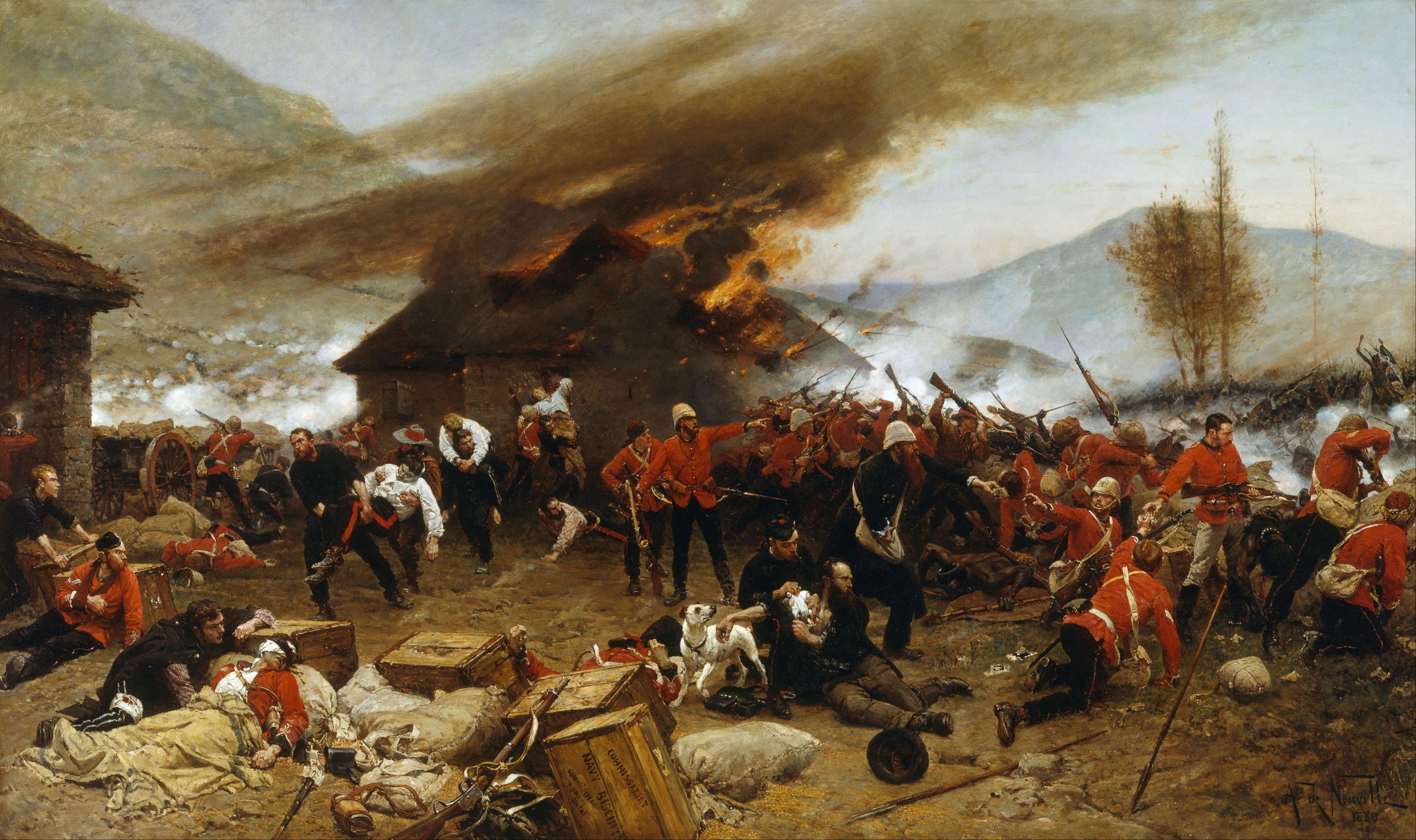 Alphonse_de_Neuville_-_The_defence_of_Rorke's_Drift_1879