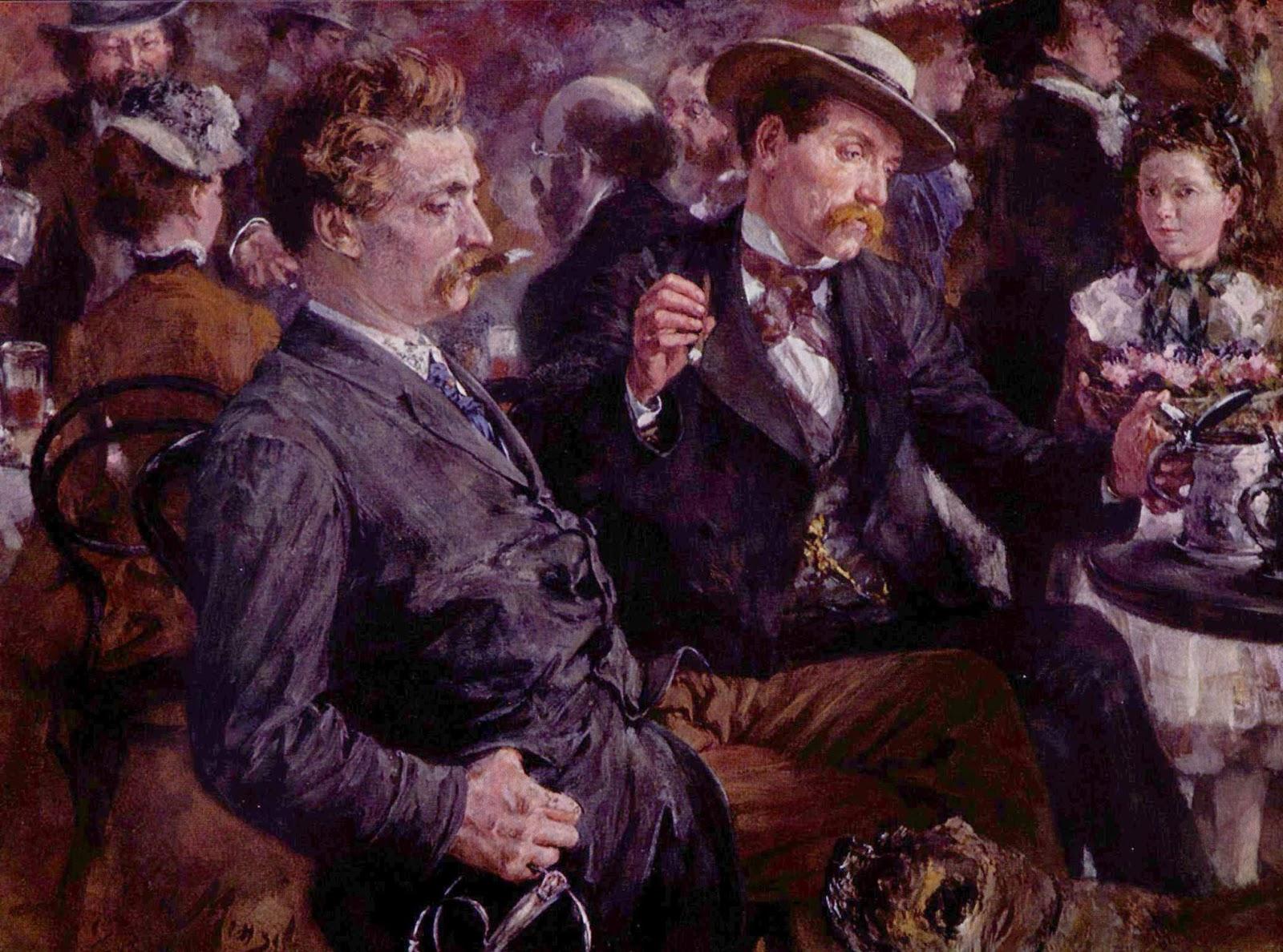 At the Beer Garden, by Adolph Von Menzel