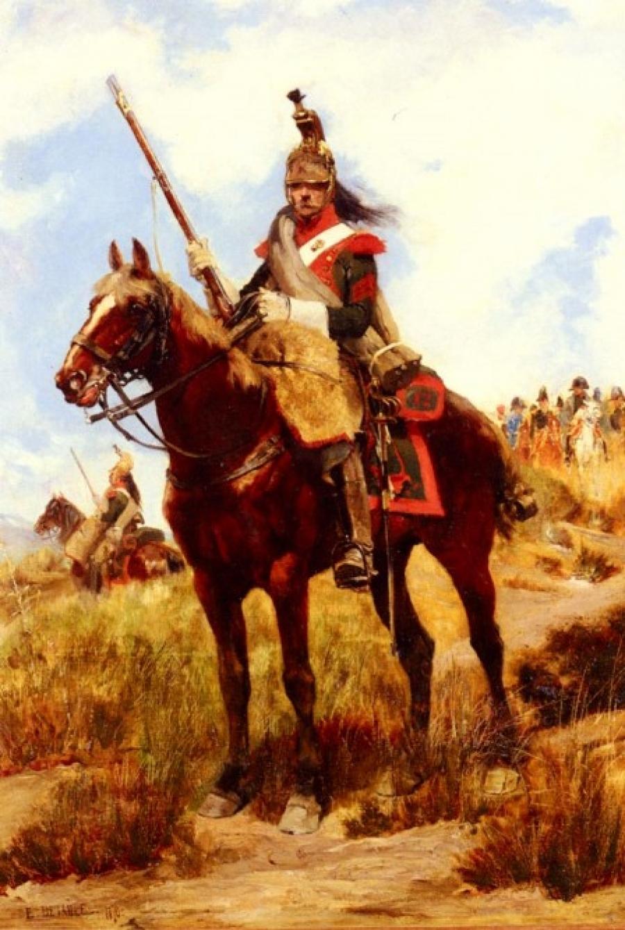 Ein-Soldat-des-12-Dragonerregiments-von-Jean-Baptiste-Edouard-Detaille