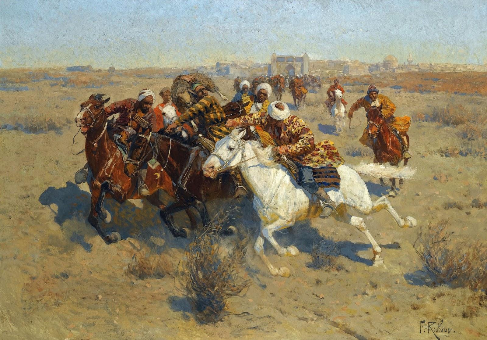 Franz Roubaud - A Game of Buzkashi