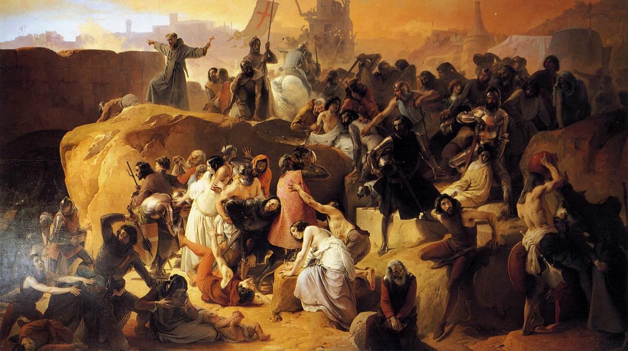 Hayez,_Fracesco_-_Crusaders_Thirsting_near_Jerusalem_-_1836-50
