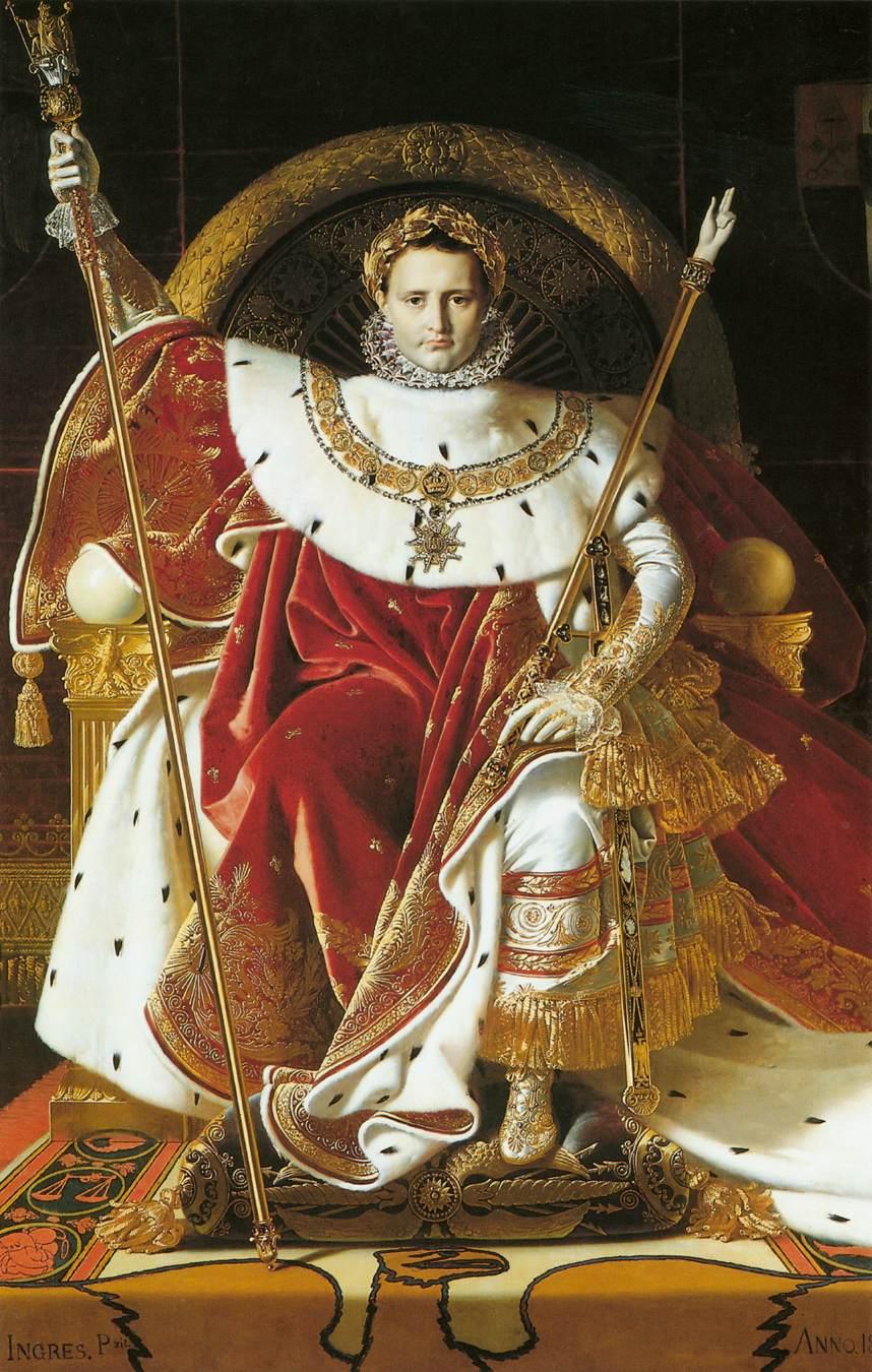 Jean-Auguste-Dominique-Ingres-Napoleon-I-on-the-Imperial-Throne