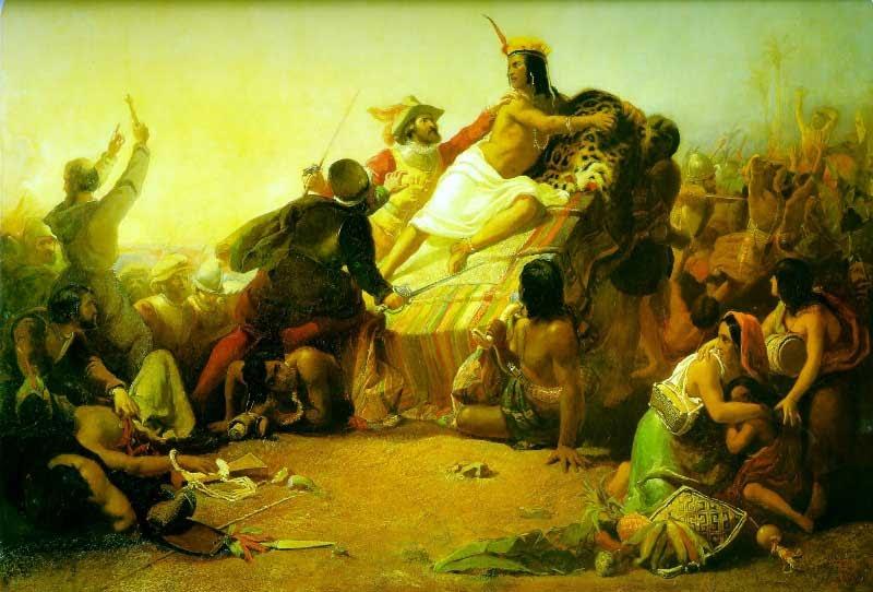 John-Everett-Millais-Pizarro-Seizing-the-Inca-of-Peru-1846-Victoria-and-Albert-Museum-London