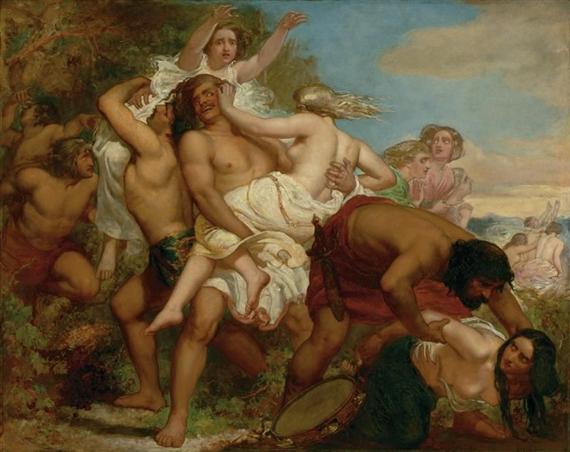 John-Everett-Millais-The-Tribe-of-Benjamin-Seizing-the-Daughters-of-Shiloh-1847