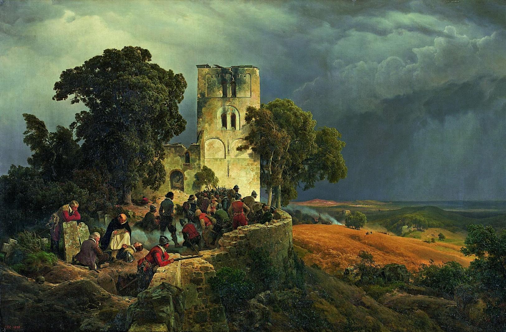 Museum Kunstpalast, Dusseldorf The Siege (Defense of a Church Courtyard During 1848Details Carl Friedrich Lessing