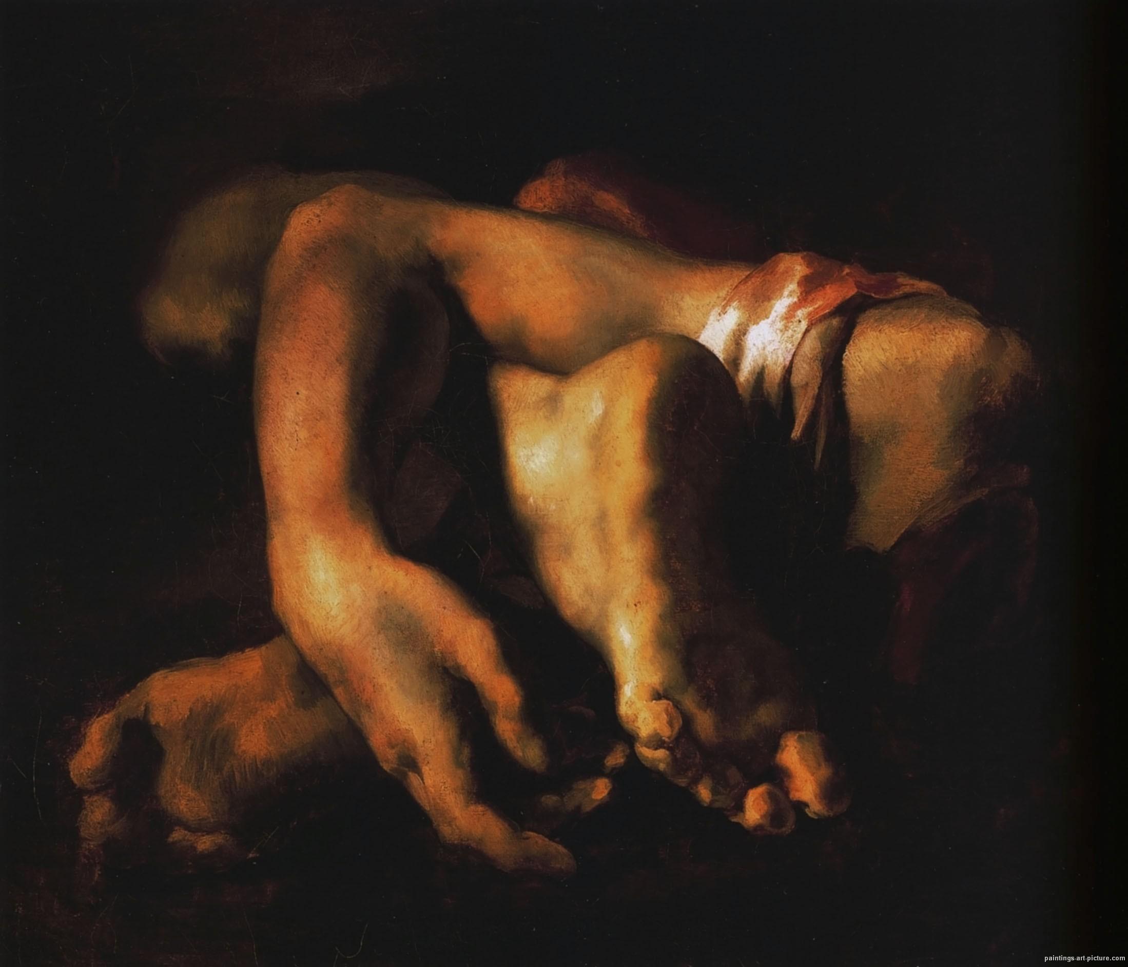 Theodore Gericault Paintings _anatomic_preparation