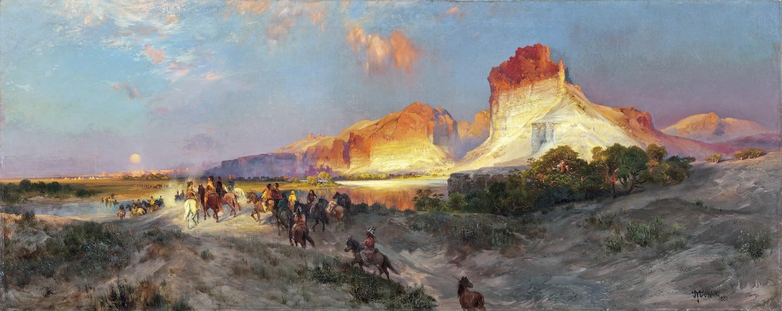Thomas Moran - Green River Cliffs, Wyoming