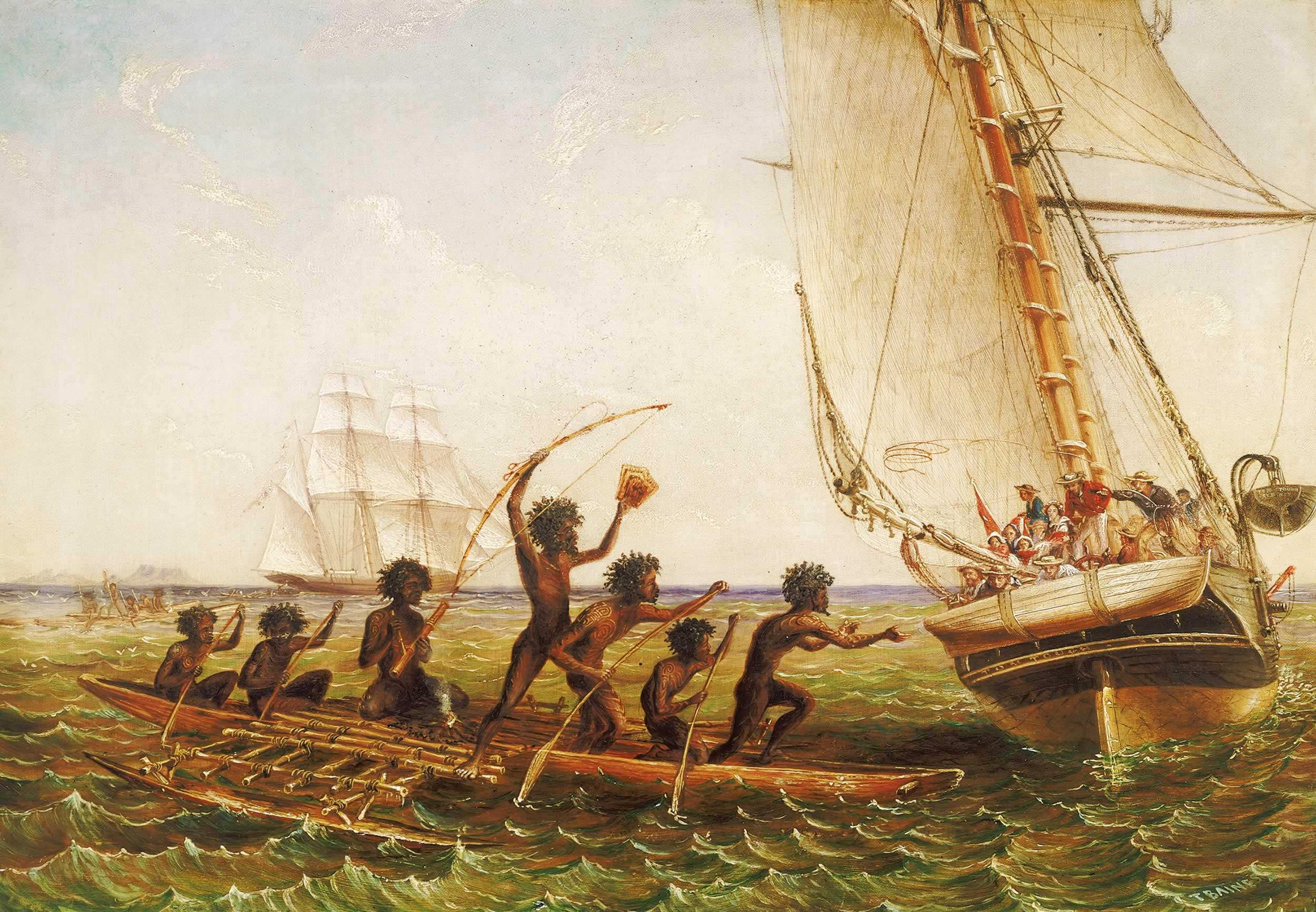 Thomas_Baines_c.1855_Aboriginal_Canoes
