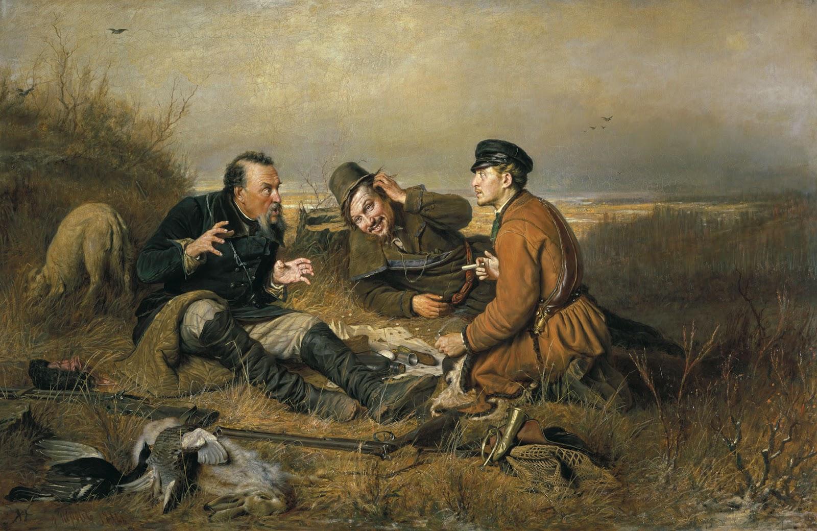 Vasily Perov - Hunters Resting