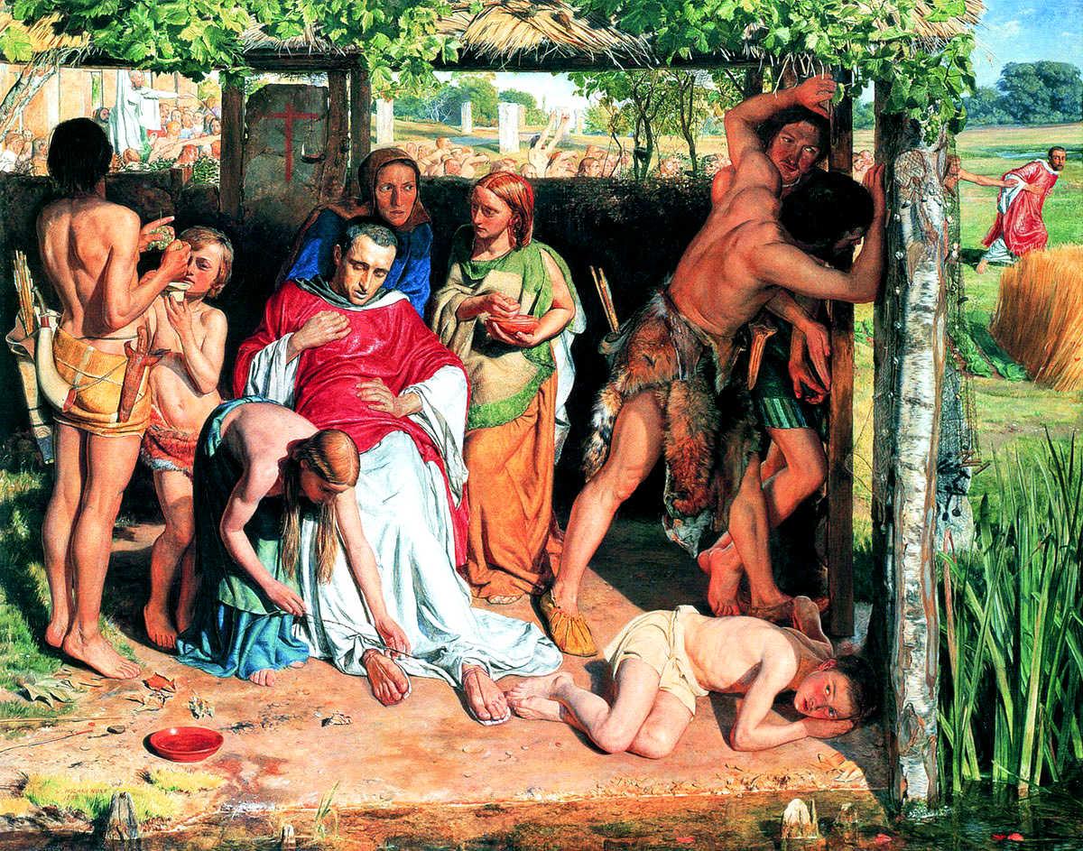 William Holman Hunt - A Converted British Family