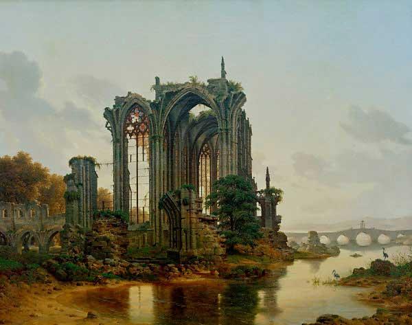 c-g-a-hasenpflug--ruine-gotische-kapelle-