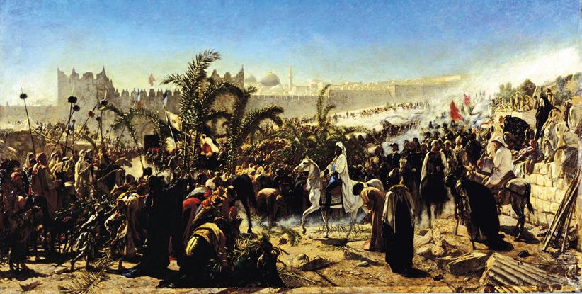 """""""Einzug des Kronprinzen Friedrich von Preußen in Jerusalem 1869"""""""