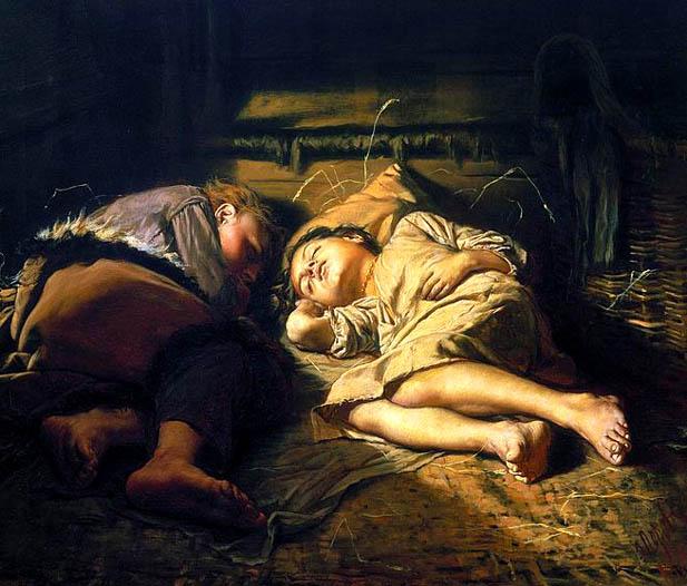 perov_sleeping_children