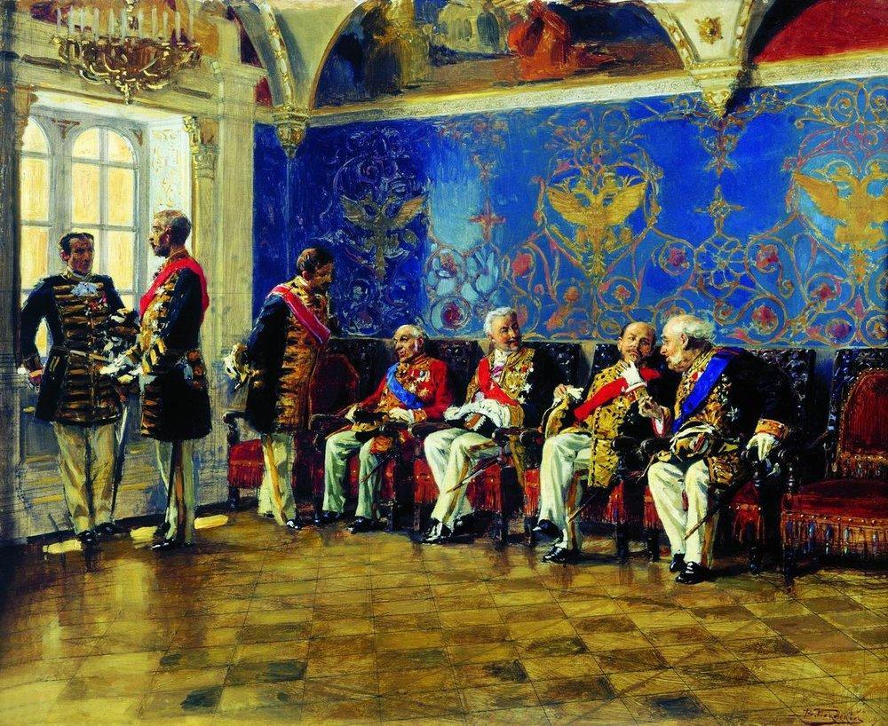 waiting-for-an-audience-1904-makovsky