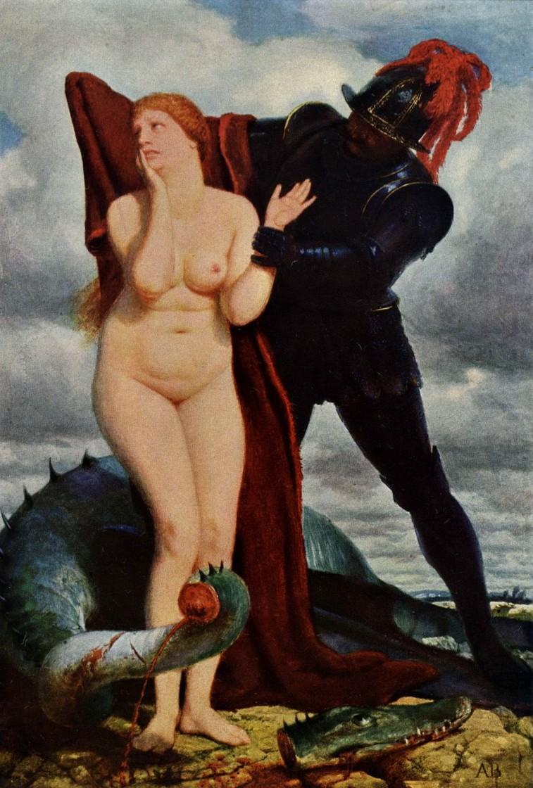 Arnold_Bocklin_-_Ruggiero_befreit_Angelica_(1879-80)