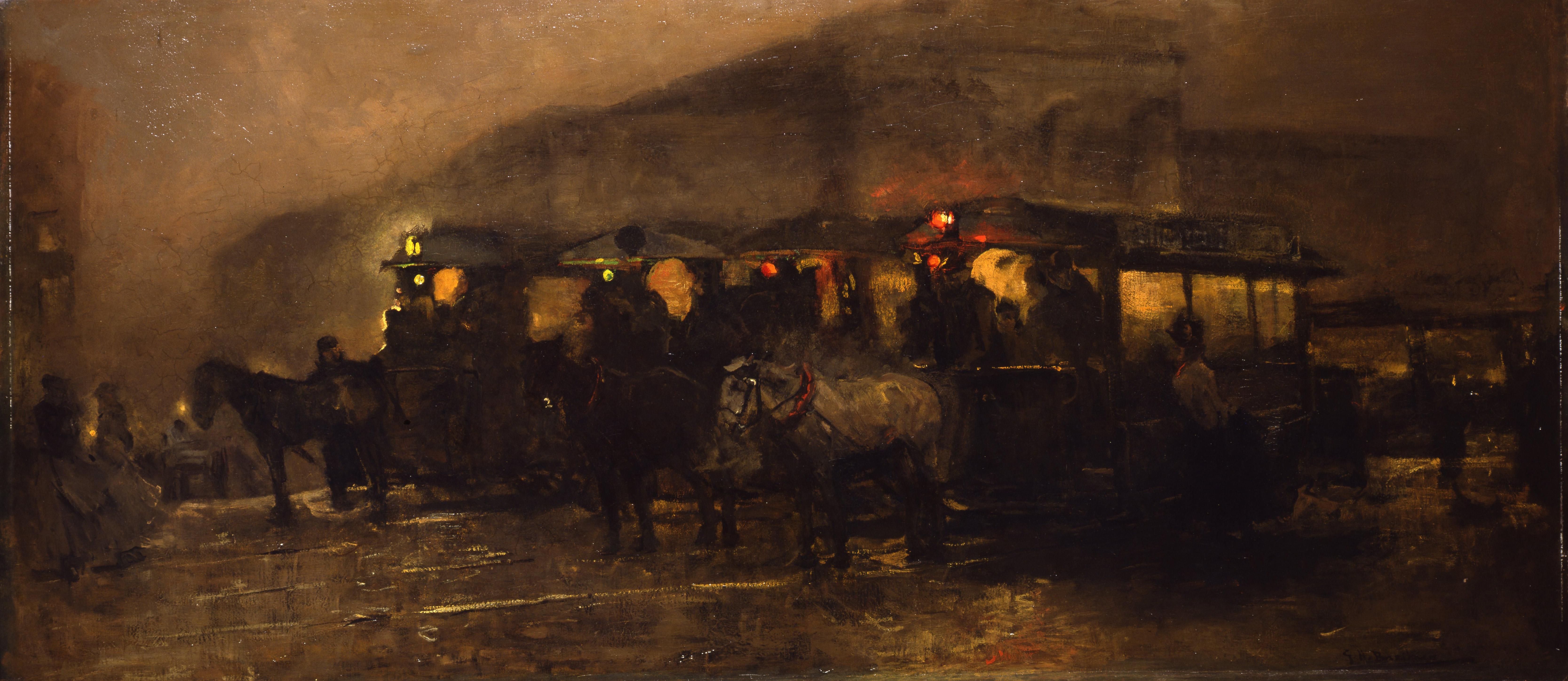 Breitner, G.H, Plein bij avond